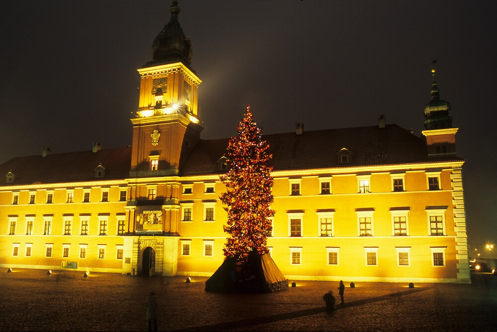 Xmas in Warsaw Castle Square by Kasia Nowak