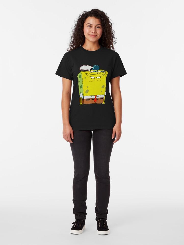 Alternate view of Grinning Spongebob - Funny Spongebob Meme Shirt Classic T-Shirt