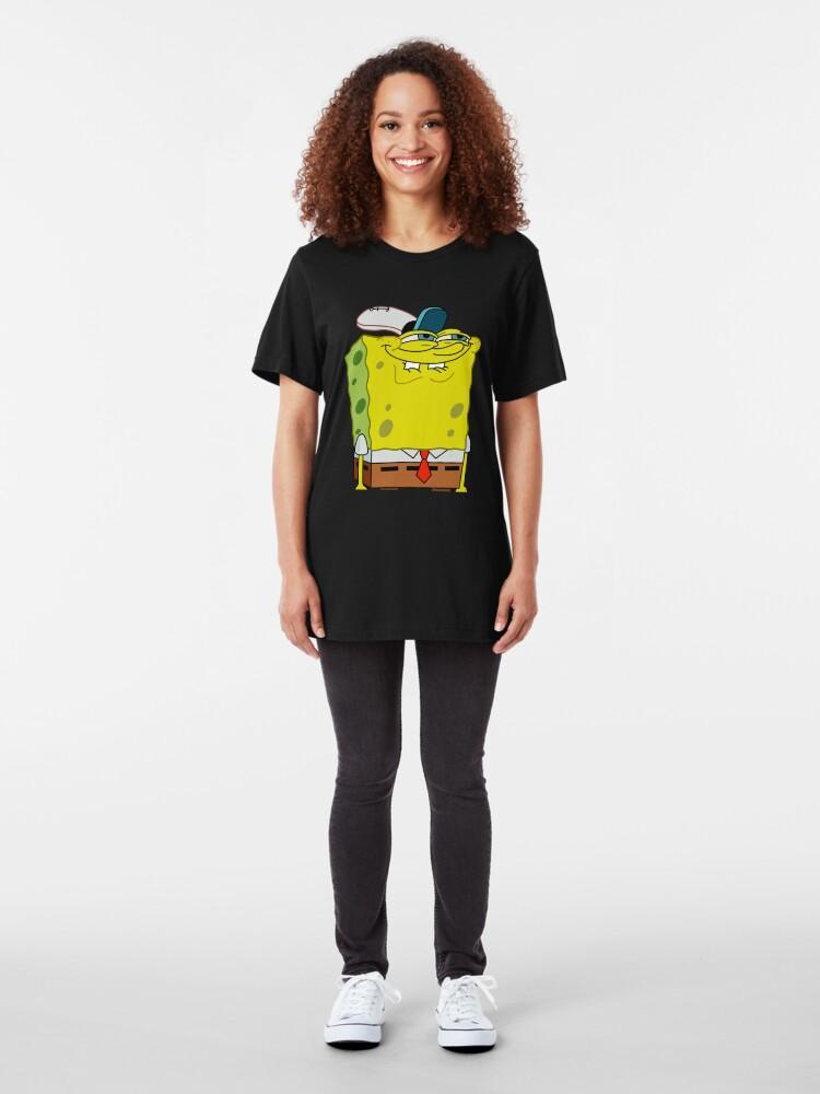 Alternate view of Grinning Spongebob - Funny Spongebob Meme Shirt Slim Fit T-Shirt