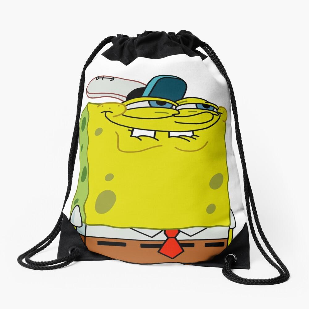 Grinning Spongebob - Funny Spongebob Meme Shirt Drawstring Bag