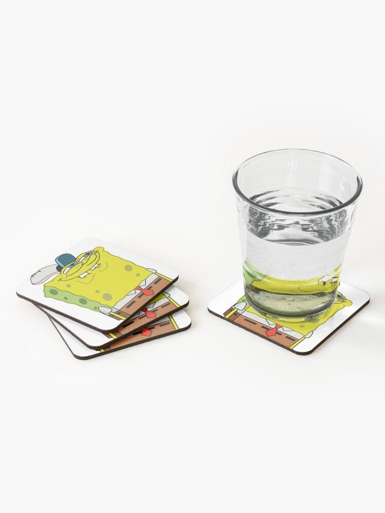 Alternate view of Grinning Spongebob - Funny Spongebob Meme Shirt Coasters (Set of 4)