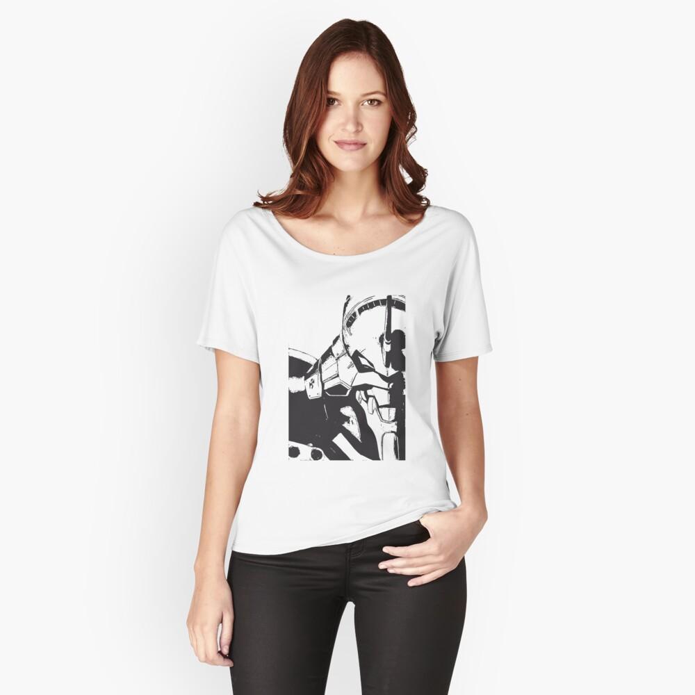 Evangelion Unit-01 Blanco y negro Camiseta ancha