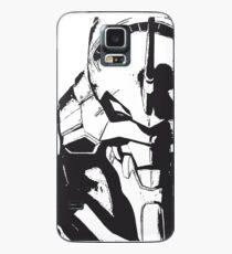 Evangelion Einheit-01 Schwarz und Weiß Hülle & Klebefolie für Samsung Galaxy
