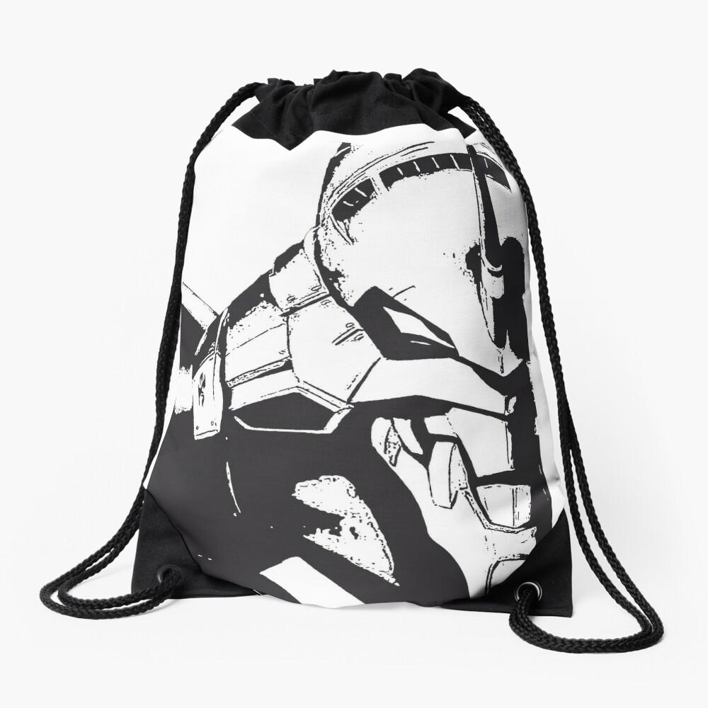 Evangelion Unit-01 Blanco y negro Mochila saco