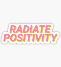 Pegatina irradiar positividad