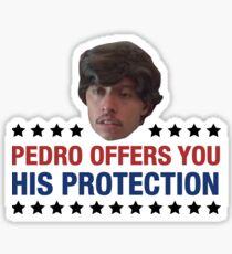 Pedro Offes You His Protection Napoleon Dynamite Sticker