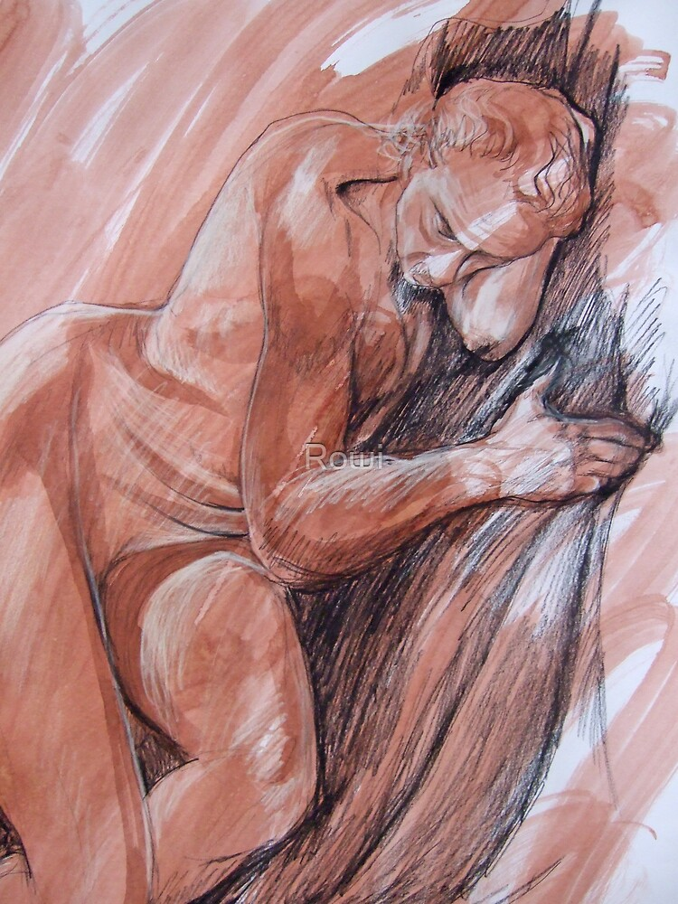 Life drawing 8 Detail by Rowi