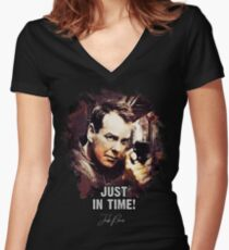 Just In Time - Jack Bauer Women's Fitted V-Neck T-Shirt
