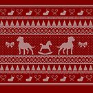 Ugly Christmas sweater dog edition - Pitbull red by Camilla Mikaela Häggblom