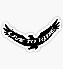 Live Ride Biker T Shirt and Stickers Sticker