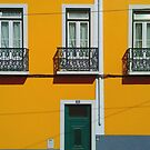 Yellow house in Lisbon by TalBright