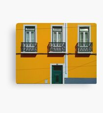Yellow house in Lisbon Canvas Print