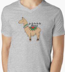Fa La La La Llama Men's V-Neck T-Shirt