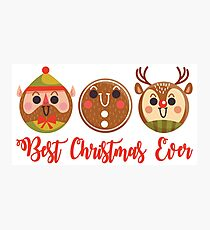 Best Christmas Ever.Awesome Emoji Christmas Gifts Photographic Print