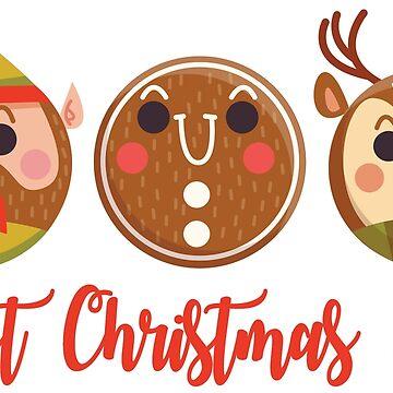 Best Christmas Ever.Awesome Emoji Christmas Gifts by Mia-Kara