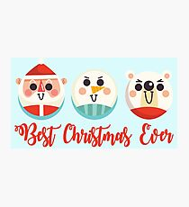 Best Christmas Ever. Christmas Gifts for kids and adults Photographic Print