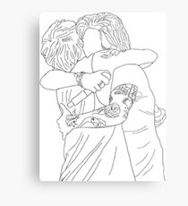 Larry Stylinson Hug  Metal Print