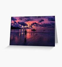 Patong beach sunset Greeting Card