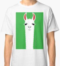 LLAMA ON CLASSIC GREEN Classic T-Shirt