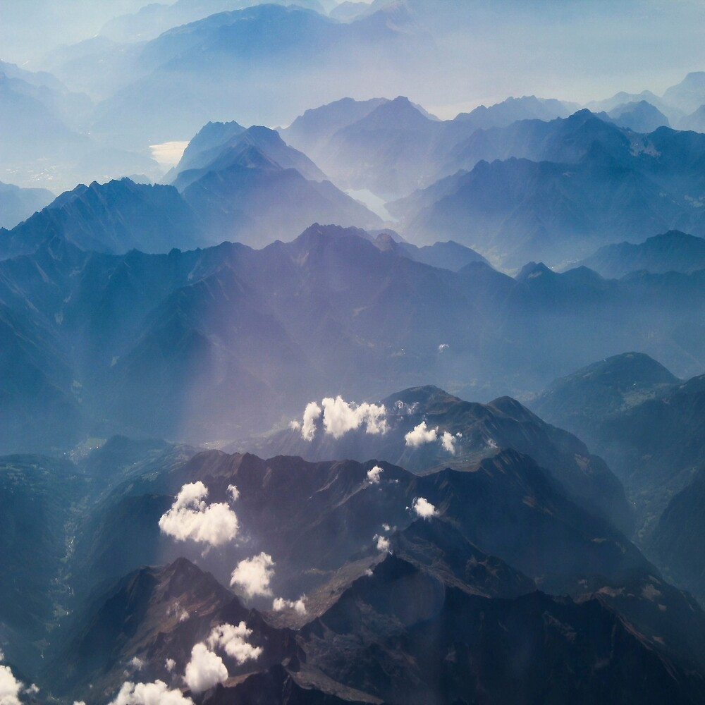 Alps from the plane by LoraSi
