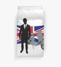 Scooter Mod United Kingdom T Shirt Duvet Cover
