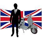 Scooter Mod United Kingdom T Shirt by Fangpunk