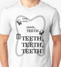 TEETH TEETH TEETH - full tweet version Slim Fit T-Shirt