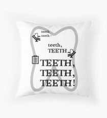 TEETH TEETH TEETH - full tweet version Throw Pillow