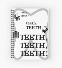 TEETH TEETH TEETH - full tweet version Spiral Notebook