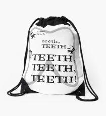 TEETH TEETH TEETH - full tweet version Drawstring Bag