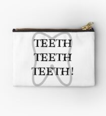 TEETH TEETH TEETH Zipper Pouch