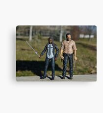 Zombie Killing Friends Canvas Print