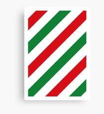 Xmas Stripes Canvas Print