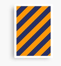 Navy Orange Warning Canvas Print