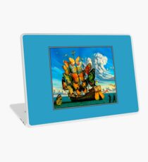 BUTTERFLY SHIP : Vintage Surreal Abstract Fantasy Print  Laptop Skin