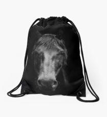 Black Horse Drawstring Bag