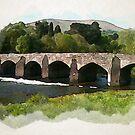 River Usk Bridge, Abergavenny, Wales by David Hayes