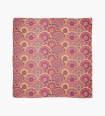 Scales pattern from pink flower mandalas Scarf