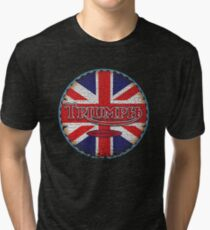 Vintage british motorcycle Tri-blend T-Shirt