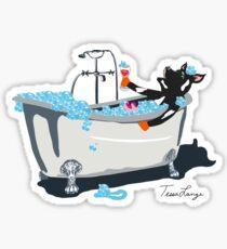 Cow in a Bathtub Sticker