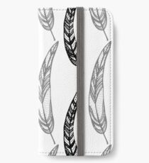 feathers, leaves, graphics iPhone Wallet/Case/Skin