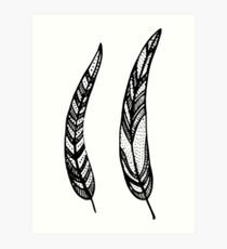 feathers, leaves, graphics Art Print