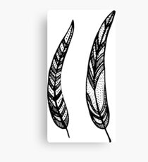 feathers, leaves, graphics Canvas Print