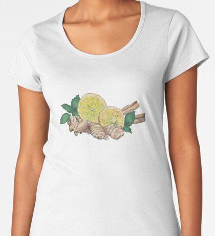 ginger lemon tea! Premium Scoop T-Shirt