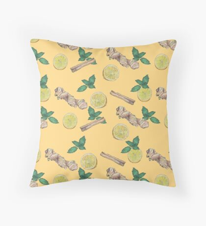 ginger lemon tea! Throw Pillow