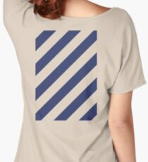 Navy Stripes Women's Relaxed Fit T-Shirt