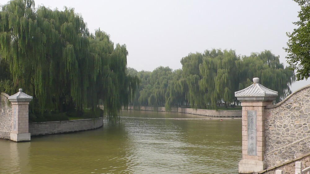 Summer Palace river, Beijing China by bluemobi