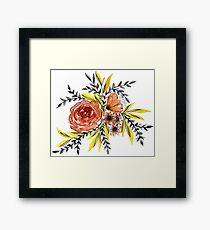 Floral watercolor  Framed Print