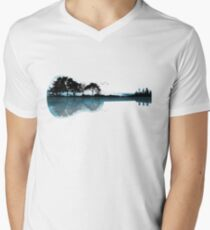 Nature Guitar Men's V-Neck T-Shirt