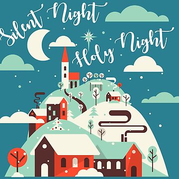 Silent Night.Holy Night. Winter Village.Christian. by Mia-Kara